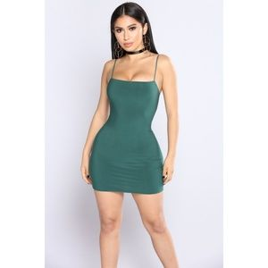 NWOT Fashion Nova Green Bodycon Dress